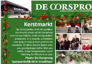 Kerstmarkt 10 December De Oorsprong